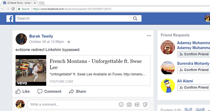Flaw in Facebook allows you to spoof links