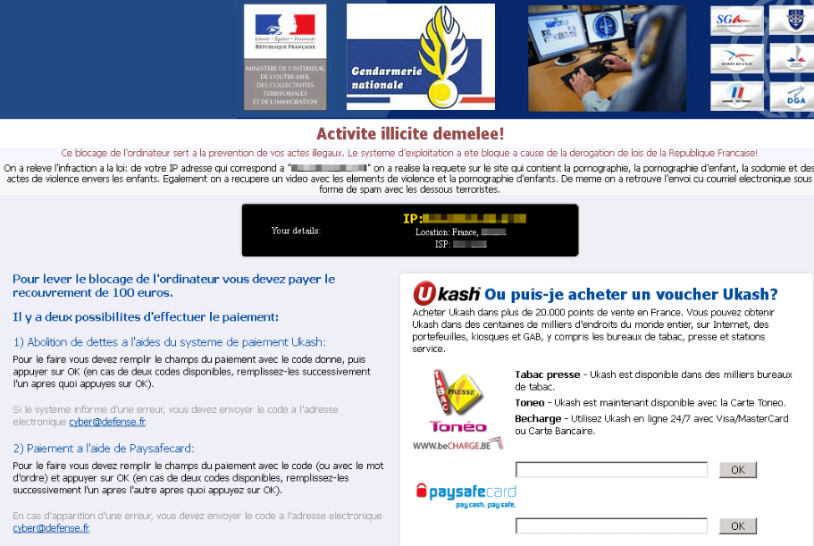 Gendarmerie Ransomware