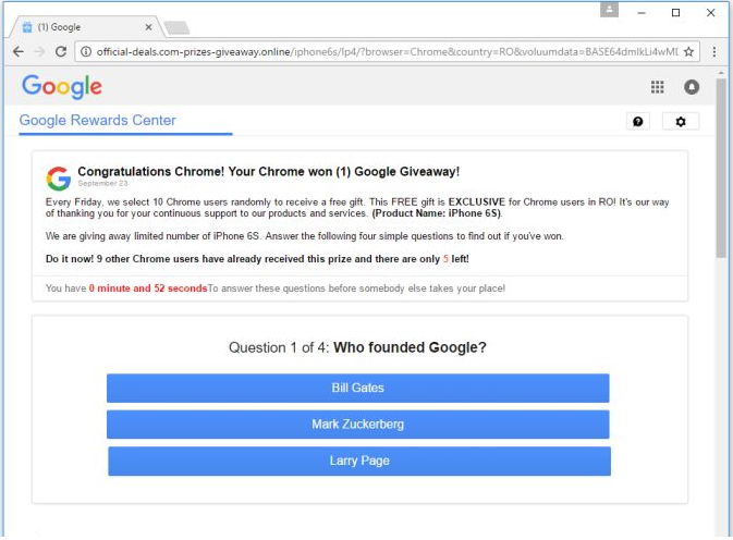 Google Membership Rewards Popup