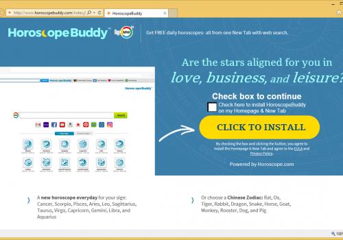 Remove HoroscopeBuddy Toolbar