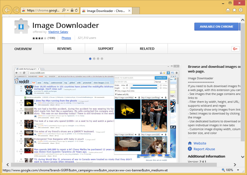 Image Downloader Extension