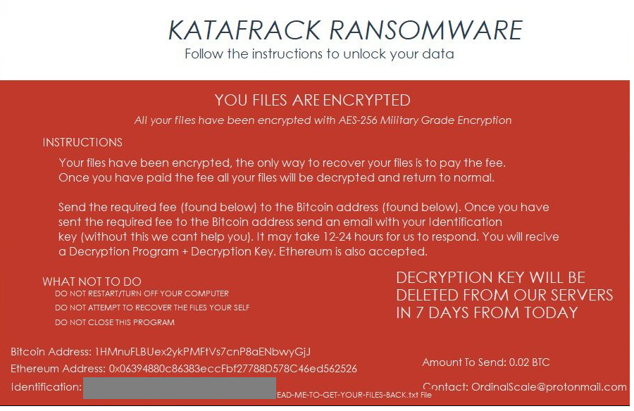 Remove Katafrack virus