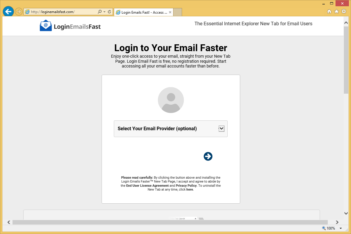 Come rimuovere LogineMailsFast.com
