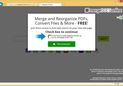Odstrániť Merge Docs Online Virus