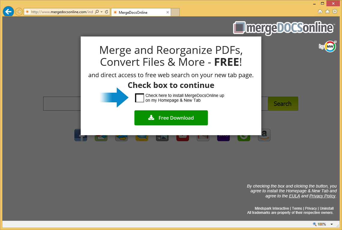 Odstranit Merge Docs Online Virus