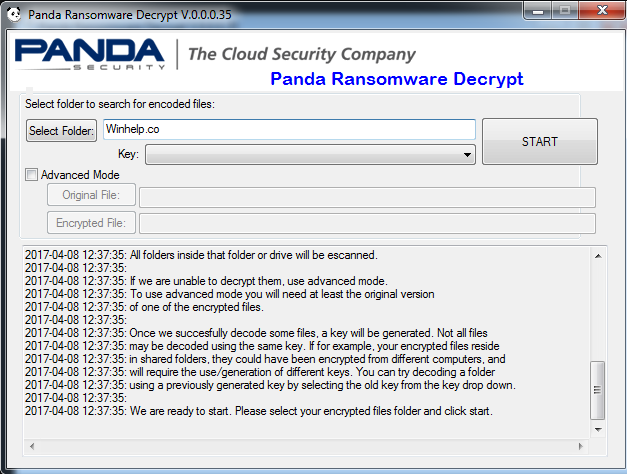 Suppression de Panda ransomware virus