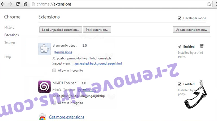 Rogue Chromium Browser Chrome extensions remove