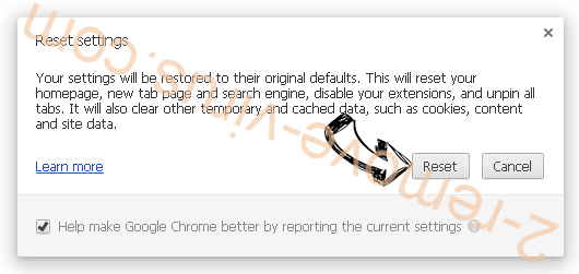Adamant Search Chrome reset