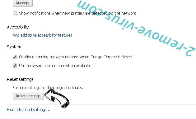 Chromium malware Chrome advanced menu