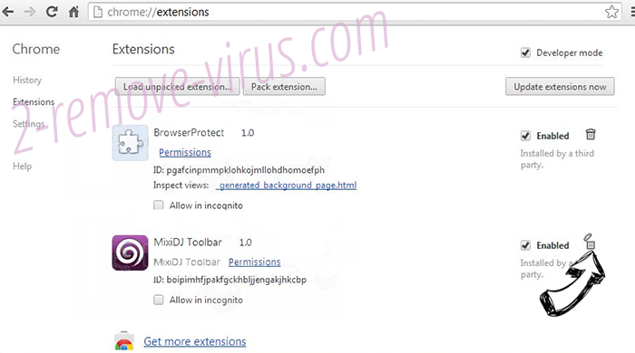 4newtab.com virus Chrome extensions remove