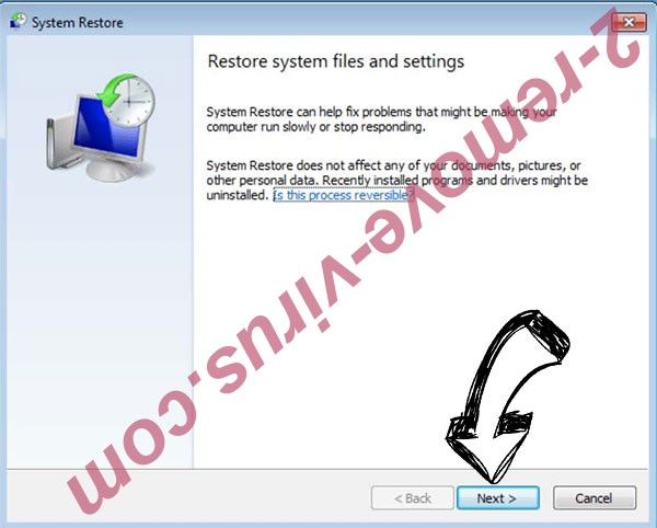 Get rid of Gendarmerie Ransomware - restore init