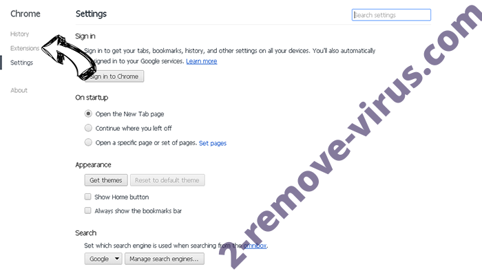 Trotux.com virus Chrome settings
