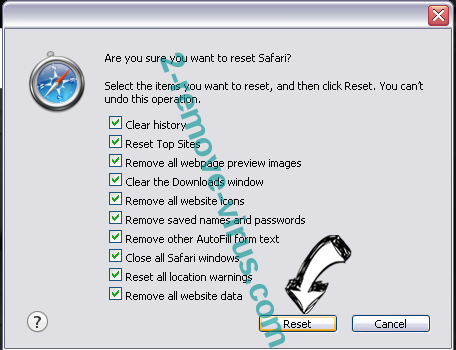 Disco Savings ads virus Safari reset