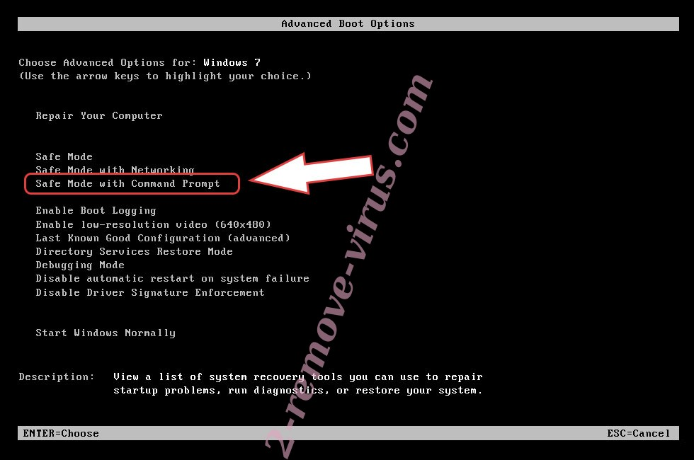 Remove SymmyWare ransomware - boot options