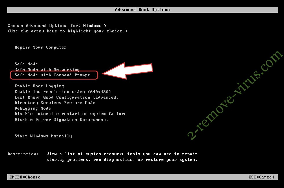 Remove Gendarmerie Ransomware - boot options