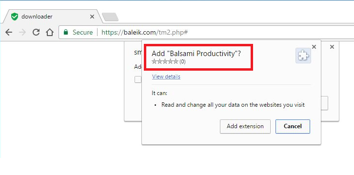 Rimuovere Baleik.com