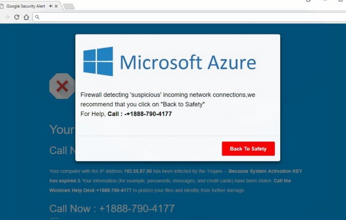 Fjern Microsoft Azure +1888-790-4177 online scam