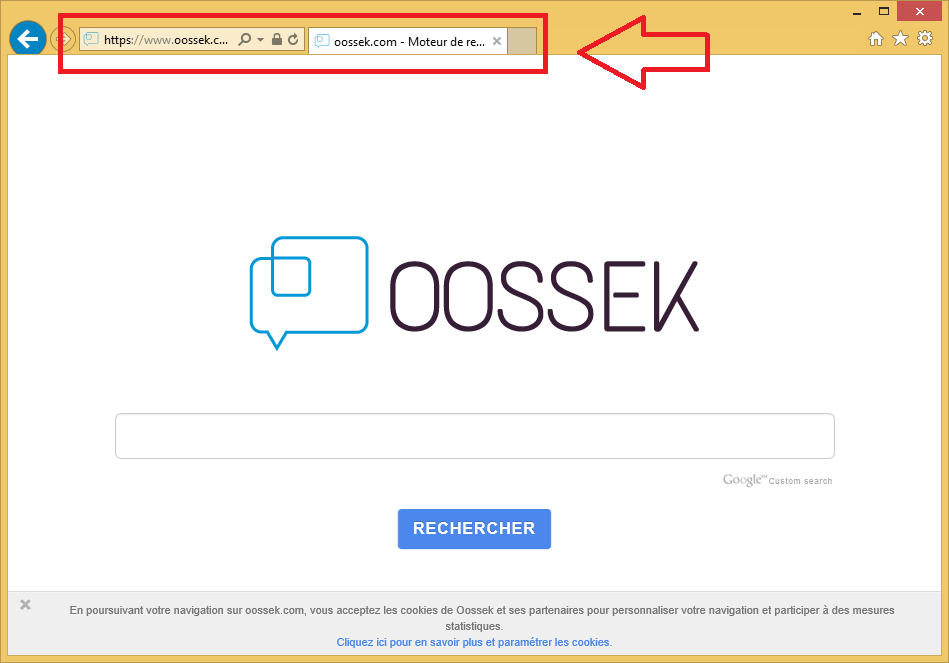 Odstranit Oossek.com Virus