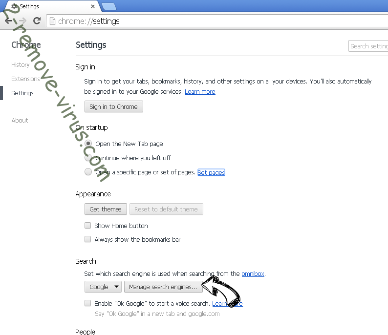 Pipeschannels.com verwijderen Chrome extensions disable