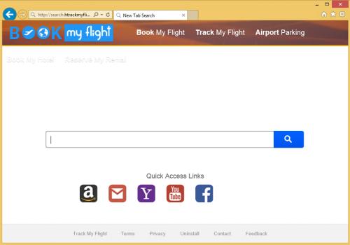 Rimuovere search.htrackmyflight.co