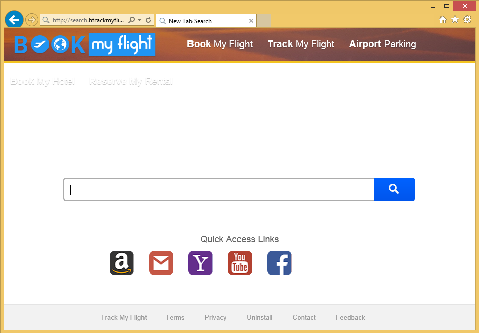 Odstranit search.htrackmyflight.co