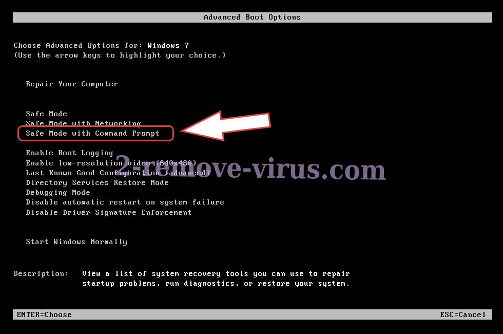 Remove .locked extension virus - boot options
