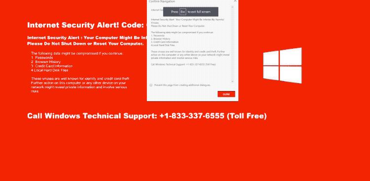Távolítsa el a Code 055BCCAC9FEC Scam