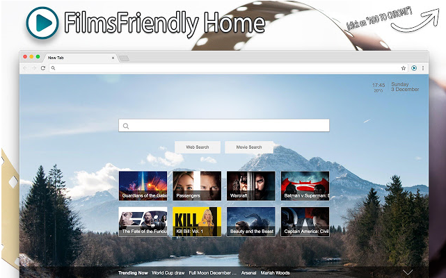 إزالة FilmsFriendly Home