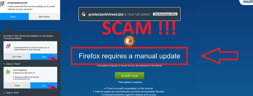 Firefox Requires A Manual Update scam