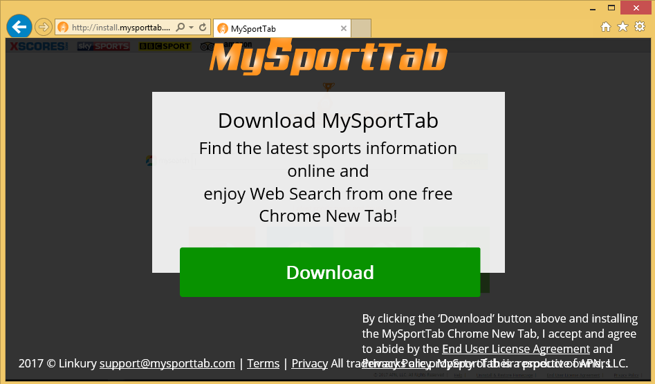 Fjern MySportTab Toolbar