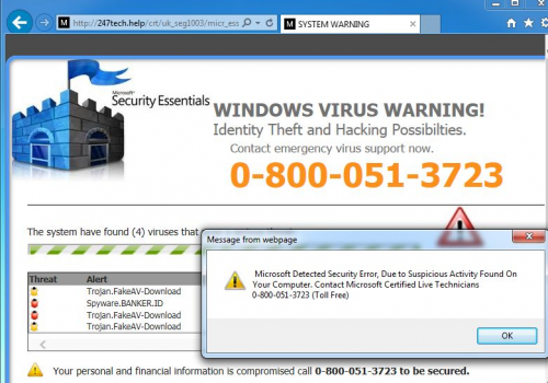 إزالة Tech Support Scam virus