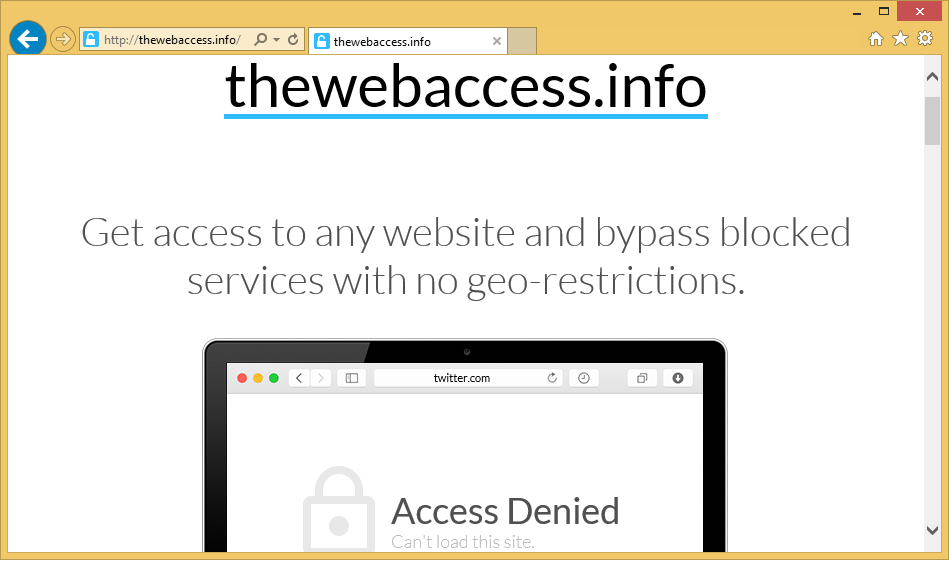 Como remover Thewebaccess.info