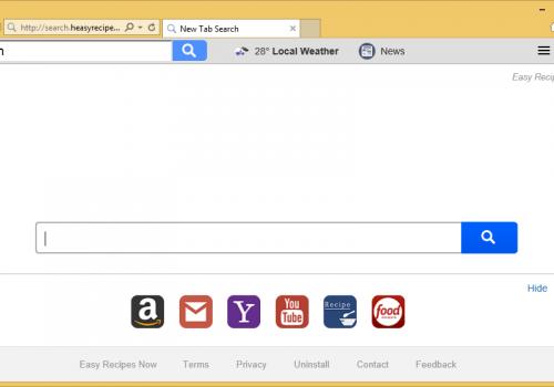 How to remove Search.heasyrecipesnow.com