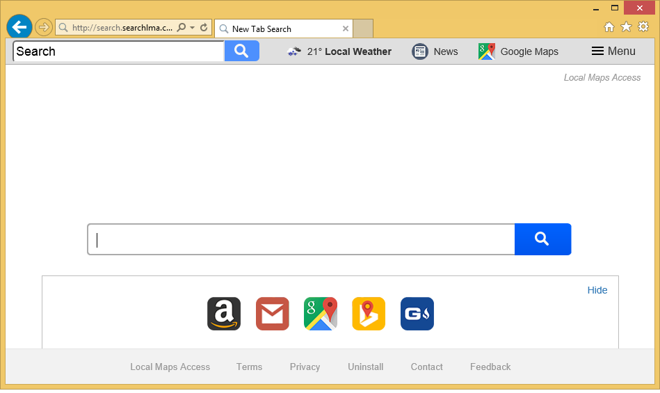 Searchlma.com を削除します。