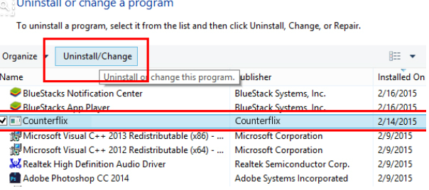 Counterflix  – How to remove?