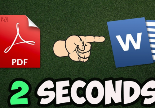 How to Convert PDF to Word in 2 Seconds (Offline)