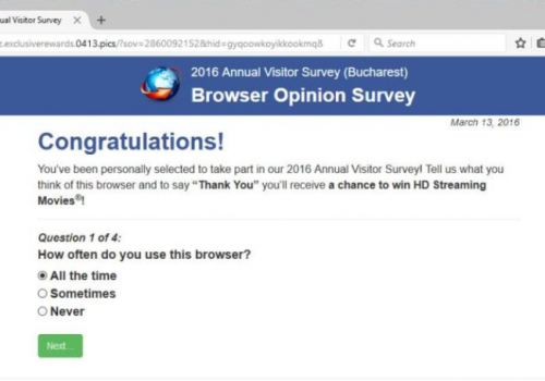Ta bort 'Mozilla Firefox Opinion Poll' Messages