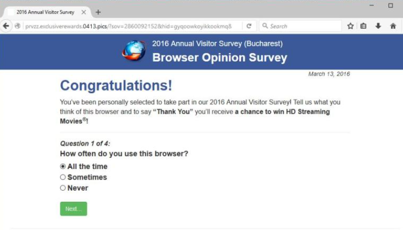 Usuń 'Mozilla Firefox Opinion Poll' Messages