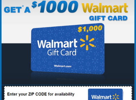 Odstrániť $1000 Walmart Gift Card Winner ads