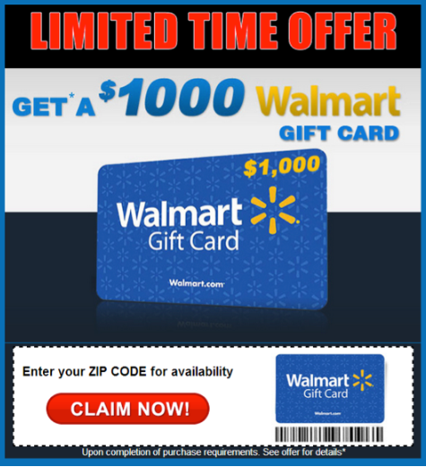 1000 Walmart Gift Card Winner ads
