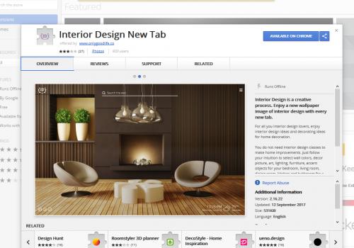 Eliminar Interior Design New Tab
