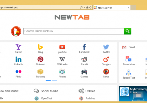 إزالة NewTab.Pro