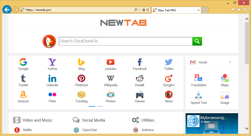 Menghapus NewTab.Pro