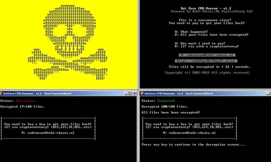 Suppression de DotZeroCMD Ransomware