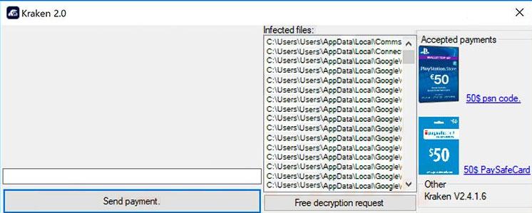 Kraken 2.0 Ransomware Removal