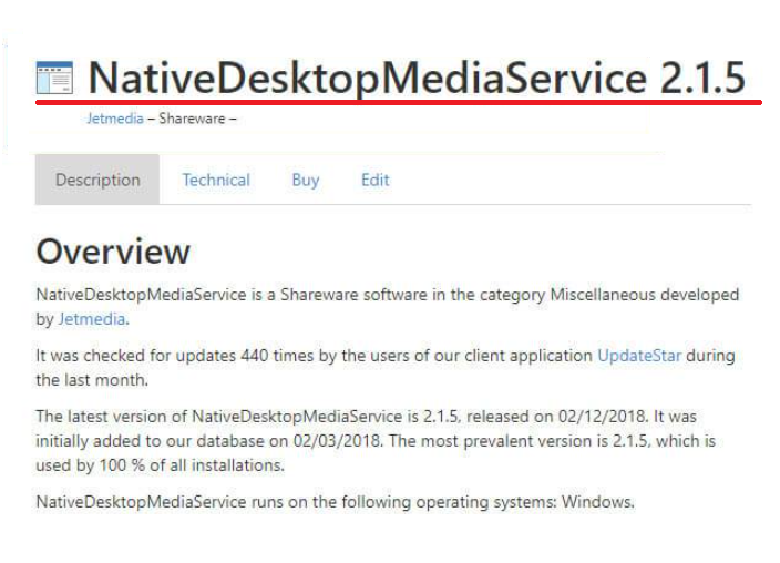 Native Desktop Media Service Virus