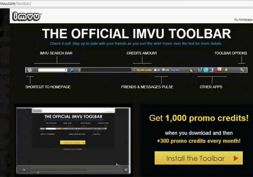 Menghapus IMVU Toolbar