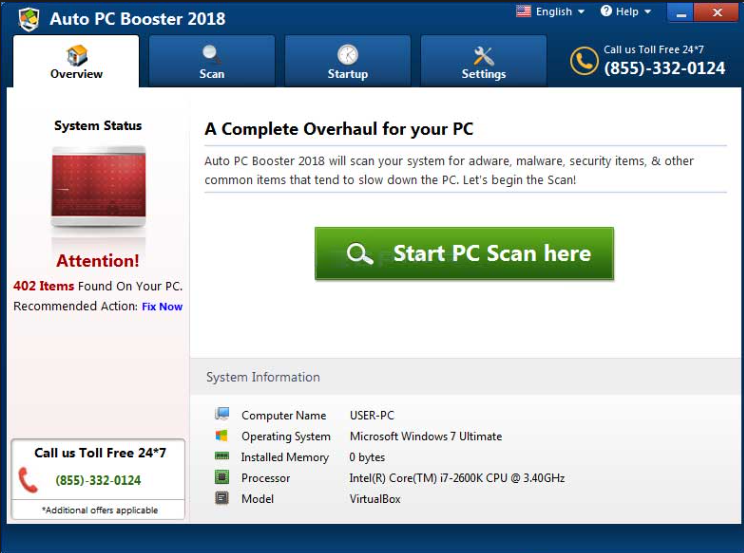 Rimuovere Auto PC Booster 2018