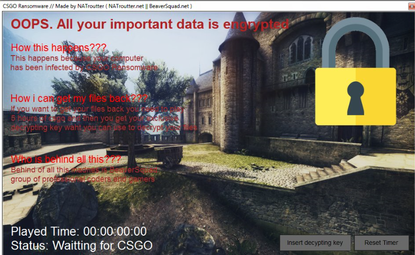 Poista CSGO Ransomware