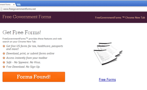 Remove Free Government Forms Virus